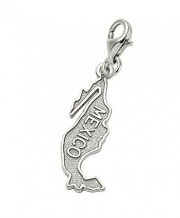 Mexico Charm With Lobster Claw Clasp- Charms for Bracelets and Necklaces - CP184AQZYOO
