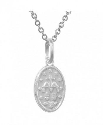Sterling Silver Miraculous Necklace Virgin
