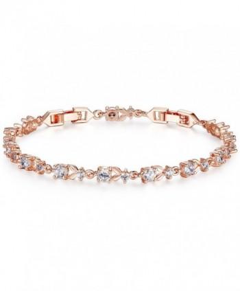 Bamoer Bracelets Sparkling Zirconia Crystal - Clear Rose - CR11RHEFQX5