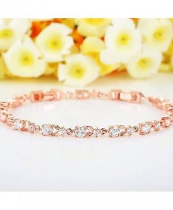 Bamoer Bracelets Sparkling Zirconia Crystal