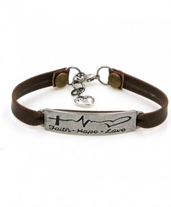 Yiyang Leather Bracelet Engraved Inspirational Message Encourage Jewellery Gifts - CK189SM7954