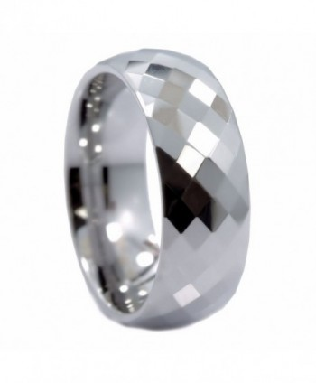 MJ 8mm Honeycomb Ring With Diamond Pattern Tungsten Carbide Wedding Band - CZ11H96DC2D