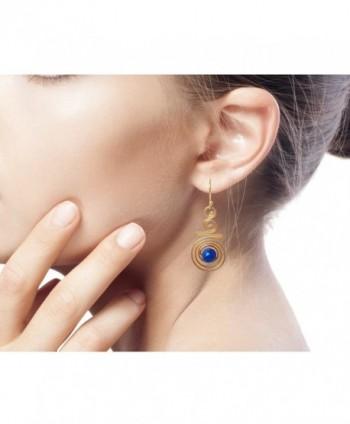 NOVICA Crafted Lazuli Yellow Earrings in Women's Drop & Dangle Earrings