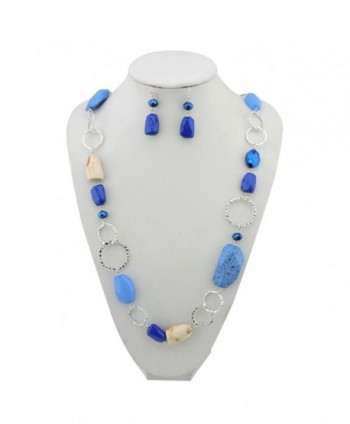Fashion Cryastl Necklace Earrings NK 10076 royalblue