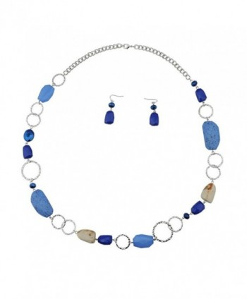 Fashion Cryastl Necklace Earrings NK 10076 royalblue in Women's Jewelry Sets
