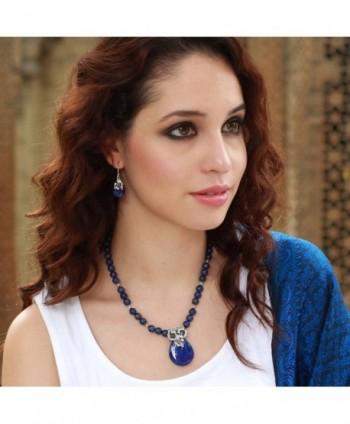 NOVICA Lazuli Sterling Silver Earrings in Women's Drop & Dangle Earrings