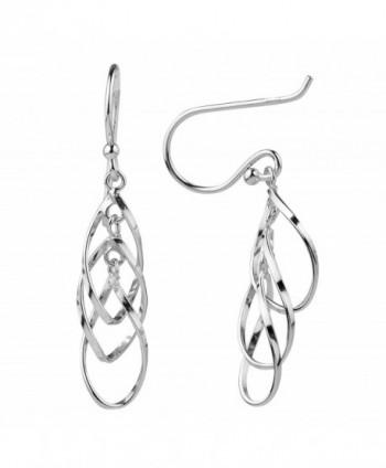 Sterling Silver Triple Dangle Earrings in Women's Drop & Dangle Earrings