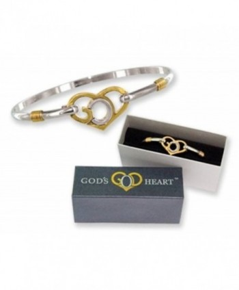 God's Heart Clip Bangle Bracelet Gift Boxed - CY112U6HINL