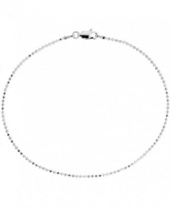 Sterling Silver Faceted Pallini Bead Ball Chain Necklaces & Bracelets 1.5mm Nickel Free Italy- 7-30 inch - CZ118FDHFI1