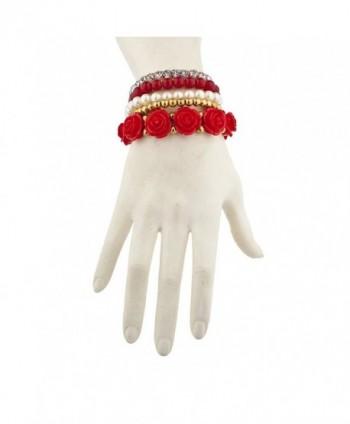 Lux Accessories Goldtone Rhinestone Bracelet