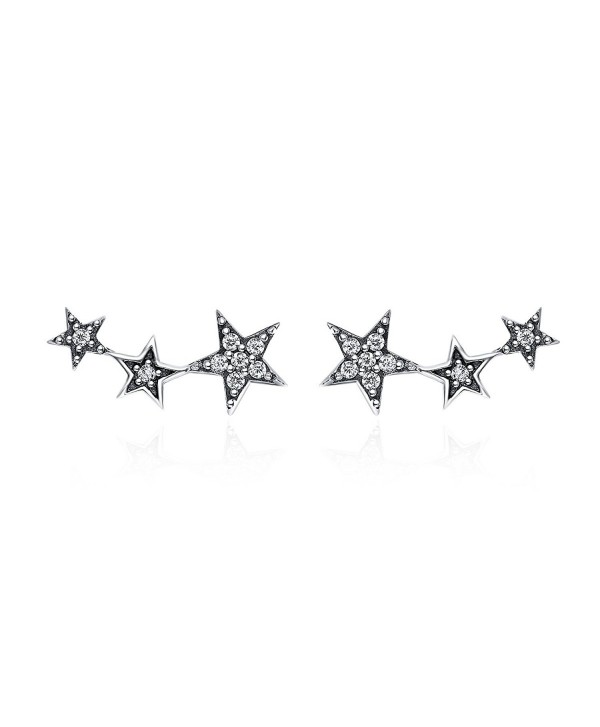 Climber Earrings Sterling Hypoallergenic WOSTU - star earring(White) - CE1800H73EU