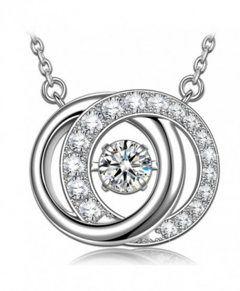 Necklace Sterling Swarovski necklace Birthday - CS1887YAHIY