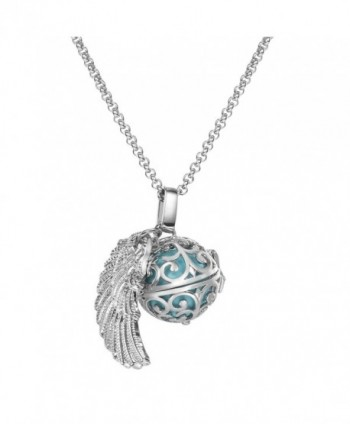 Feather Mexican Pregnancy Necklace Presents - Cyan - CG12IFT4GCR