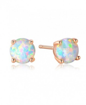GEMSME Created Opal 8mm Round Stud Earrings - Rose - CD187Q6L5MA
