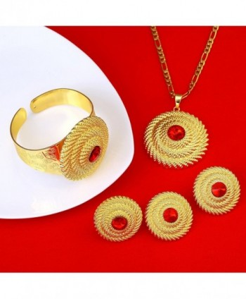 Ethiopian Jewelry Gold Pendant Earring in Women's Jewelry Sets