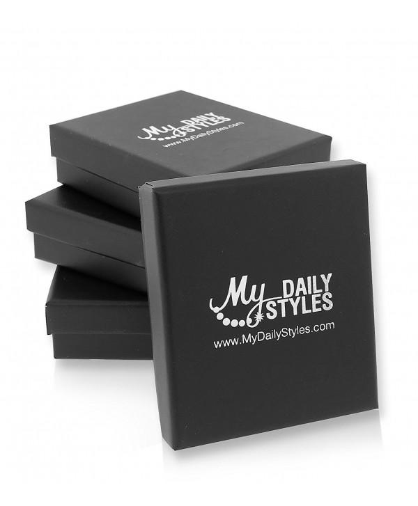 """Stainless Steel Silver-Tone Classic Large 2.0"""" Round Hoop Earrings - CM11DVN81BP"""