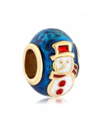 LovelyCharms Snowman Bead Fits Bracelets - CH12NDZUN1V
