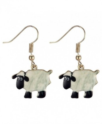 Drop Earring Bah Bah Sheep (White) Made With Zinc Alloy & Iron by JOE COOL - C312GVP83AH
