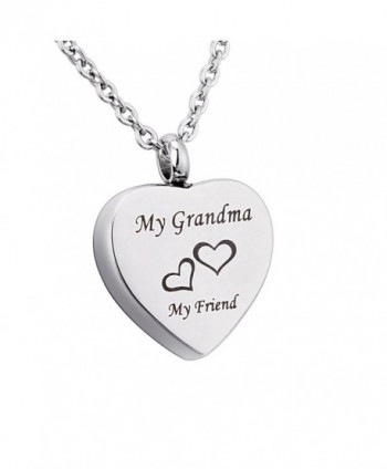 Engraved Memorial Necklace Stainless Cremation - Grandma - CW18570XCRN