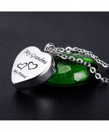Engraved Memorial Necklace Stainless Cremation in Women's Pendants
