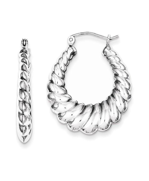 Sterling Silver Rhodium-plated Shrimp Hoop Earrings - CO115EY2ADN