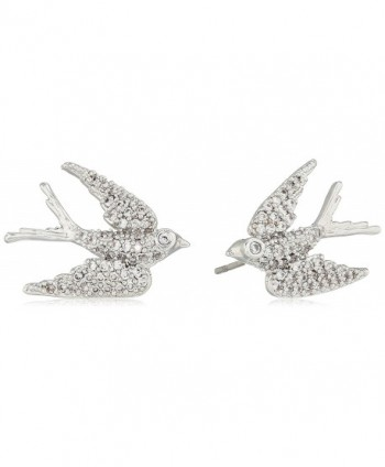 "betsey johnson ""blue birds"" crystal cubic zirconia dove stud earrings - CR185A0TE4T"