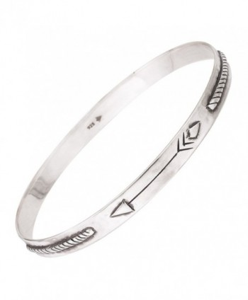 "Silpada 'Arrow Dynamic' Sterling Silver Bangle Bracelet- 7.75"" - CG12N37F5TN"