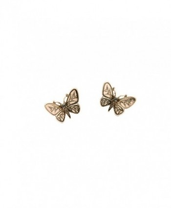 Antique Butterfly Front Double Earrings