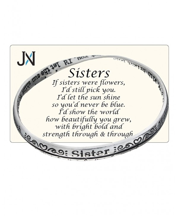 Silver-tone Sisters Twist Bangle Bracelet Prayer Card Included by Jewelry Nexus - CF11EH7VW15