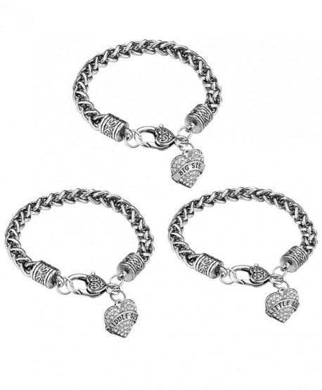Sister Gift Charm Bracelet Set - White - CI1880O68A8