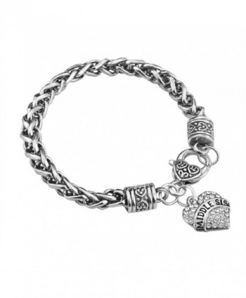 Sister Gift Charm Bracelet Set in Women's Bangle Bracelets