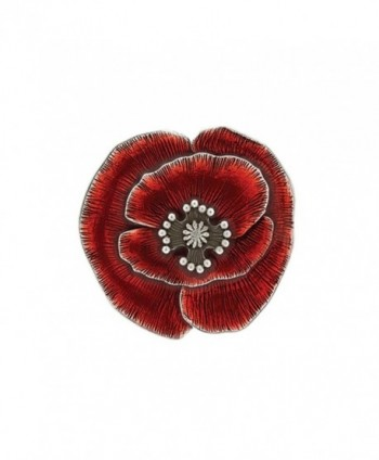 Danforth - Remembrance Poppy Brooch Pin - C117XMLS337