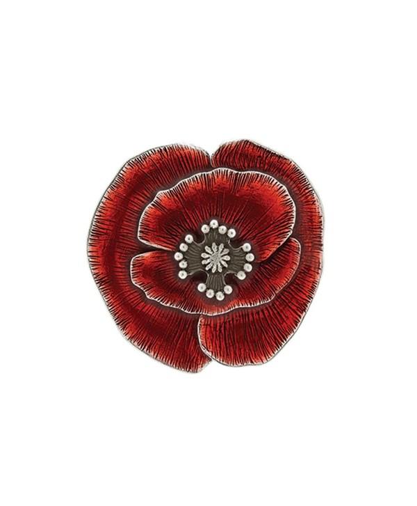 Danforth - Remembrance Poppy Brooch Pin - C117XMLS337
