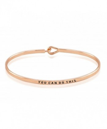 Hypoallergenic Surgical Rhodium Inspiration Bangle - Rose Gold Plated - C51822UQ5SW