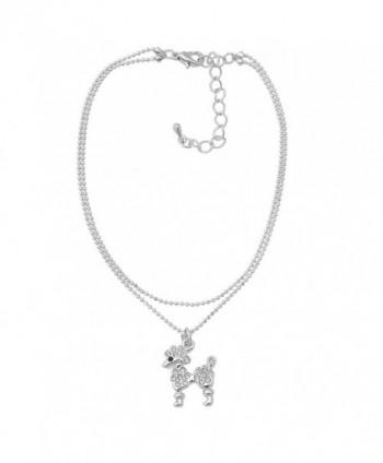 Spinningdaisy Silver Plated High Gloss Poodle Anklet - CC11DYXFNYZ