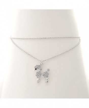 Spinningdaisy Silver Plated Poodle Anklet in Women's Anklets