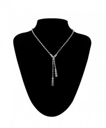 Women's Party Wedding Jewellery Sets Fashion Bride Earrings & Necklace - CH11U0HPTWJ