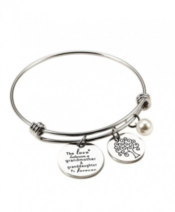 Meibai Grandmother Personalized Granddaughter Expandable - Grandmother and Granddaughter Expandable Bracelet - C6189D8DGXX