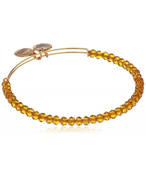 Alex and Ani Brilliance Bead Aurelia Gold/Shinny Gold Bracelet - CH12ICY95UN