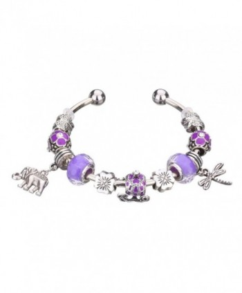 Susenstone DIY Bohemian Style Jewelry Beaded Bracelet Chains - Purple - C412IGA4KDT