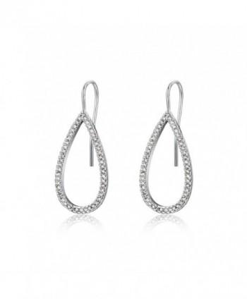 Evermarker Titanium Sterling Earrings Waterdrop in Women's Clip-Ons Earrings