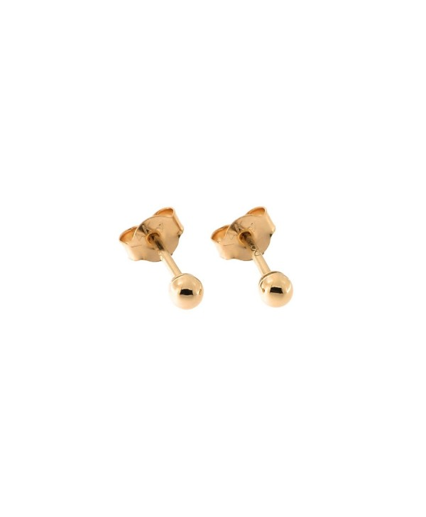 14k Rose Gold Ball Stud Earrings- 2mm - C212JV80UKX