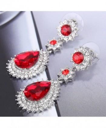 EleQueen Austrian Dazzling Earrings Silver tone in Women's Jewelry Sets