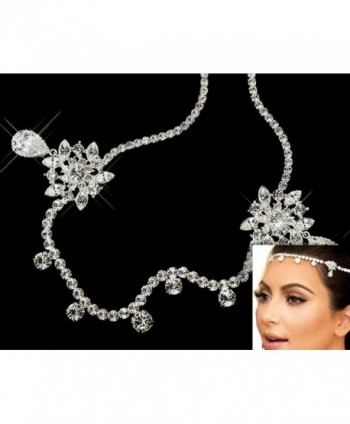 Bella-Vogue wedding Rhinestone hairband Elastic hair band headchain kim rhinestone head chain-NO.212 - CH121IEO743