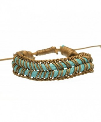 BLUEYES COLLECTION All Handmade Cotton and Hemp Braided Bracelet - B18 - CW12NRGSXS2