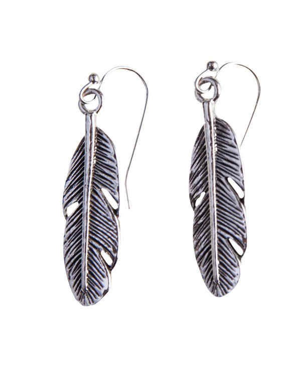 Bohemia Feather Antique Gold Brass or Silver Earring - Spunky Soul Collection - CM125DDM7S3