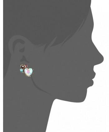 Betsey Johnson Heart Cluster Earrings