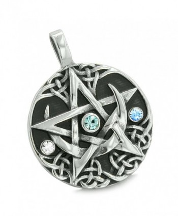 Pentacle Defense Crystals Pentagram Necklace