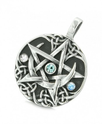 Pentacle Defense Crystals Pentagram Necklace in Women's Pendants