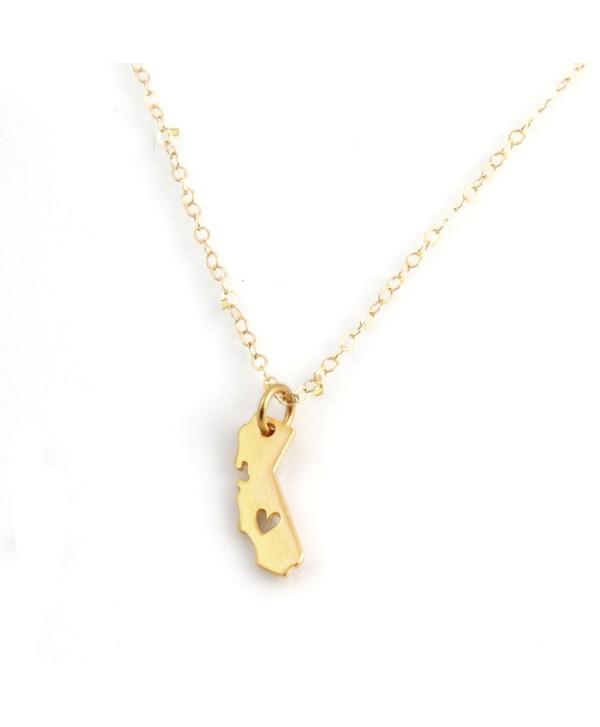 "California State Necklace - I Love California - 14k Gold Filled- 18""- by Wild Moonstone - C0186DT85E4"